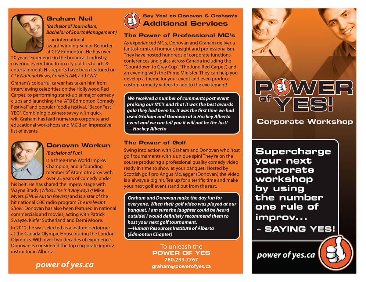 Power of Yes Brochure - Outside