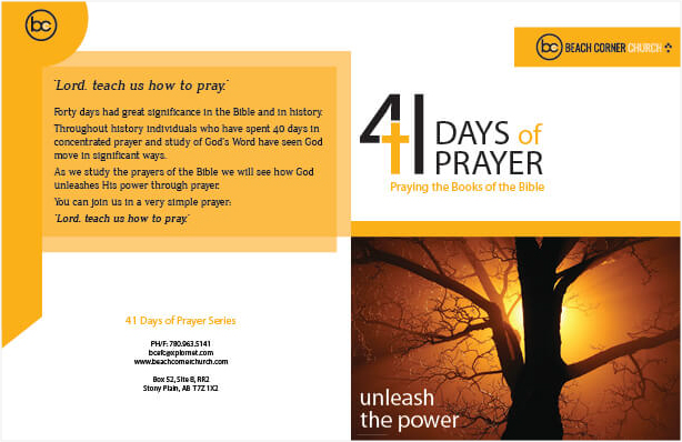 41 Days of Prayer Front and Back
