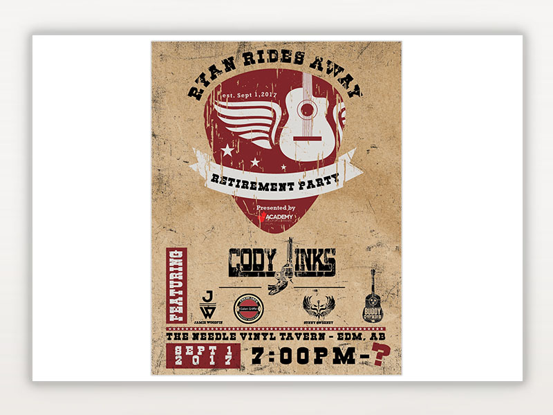 Retirement Party Logo & Poster